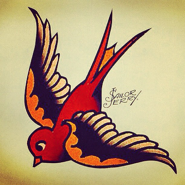 Sailorjerry Swallow Sparrow American Traditional Tattoo Classic Ink Flickr Photo