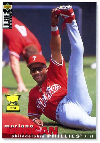 Baseball Card Bust Mariano Duncan 1995 Upper Deck Collectors Choice