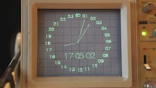 Oscilloscope vector clock