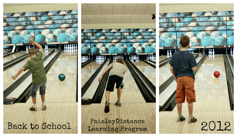 Boys Bowling Collage