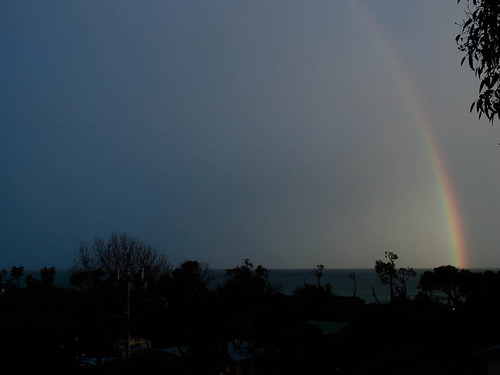 Rainbow over Waratah Bay, Victoria (ii)