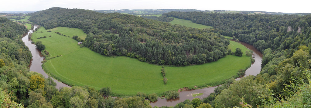 Panorama of the River Wye from Symonds Yat Rock