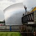The silver skin of the Thames Barrier