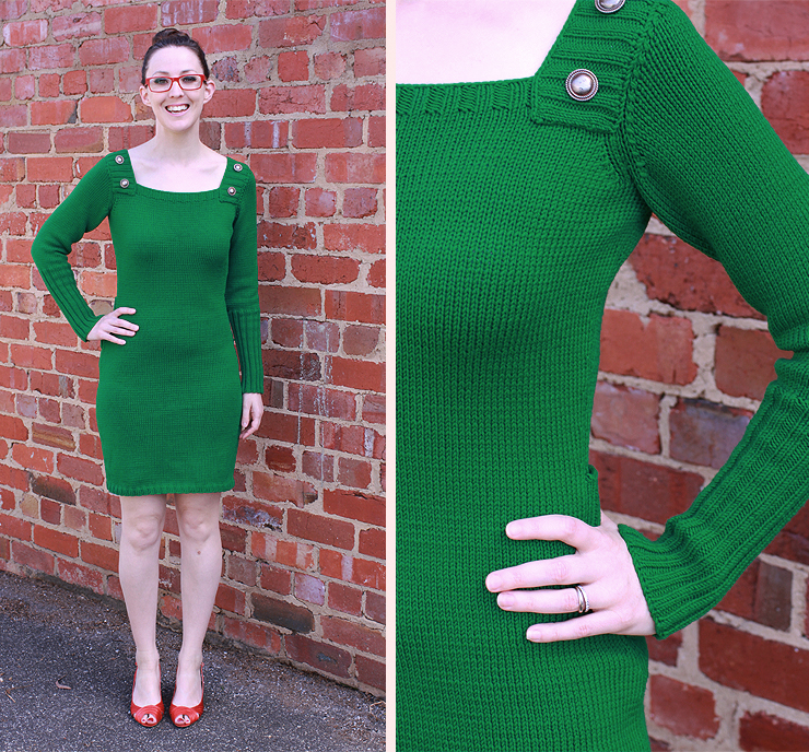 Green Knitted Dress #4