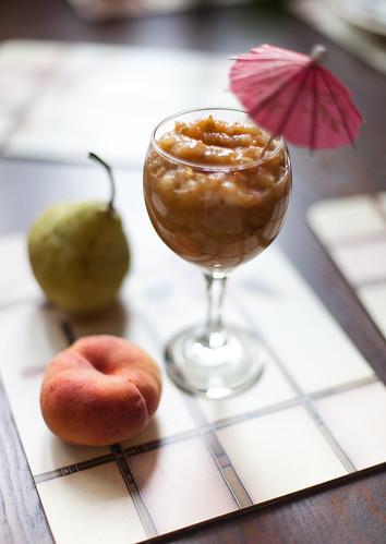 Грушево-персиковый смузи