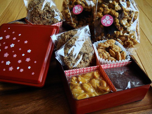 Boxed candy and cookies for christmas