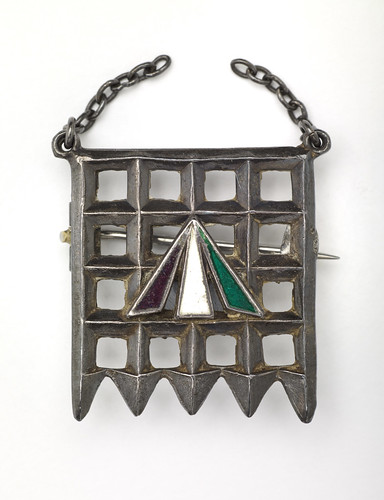 Nellie Hall's suffragette badge