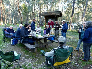 Afternoon tea At Honeyeater Picnic area. Sept 1 2012 EC