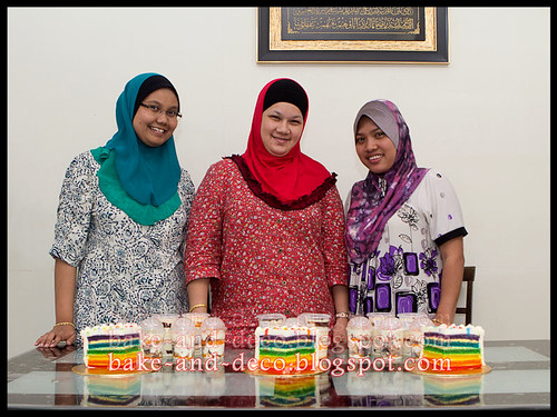 Batch 22 April 2012: Italian Rainbow Cake + Lapis Cheezy + Tutty Fruity Cream Dessert
