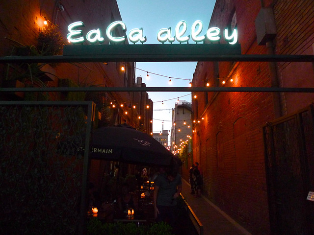 The alley sign