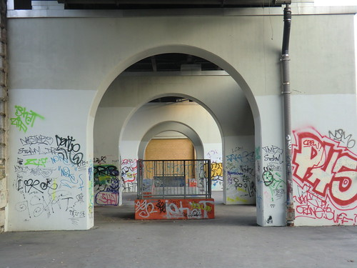 Under the subway line by Steys