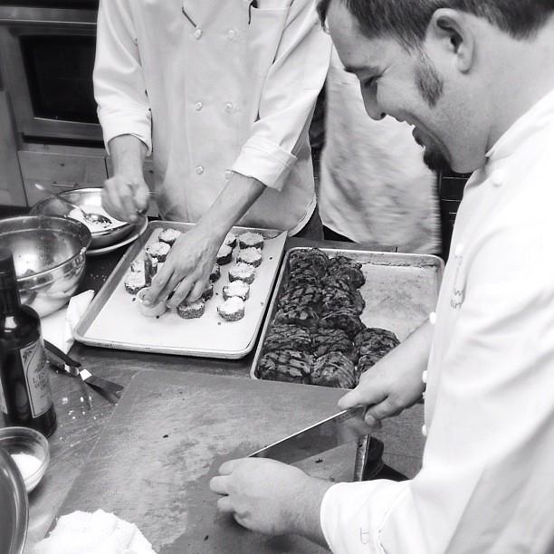 Behind the scenes at the chef challenge with @centralmarket @chefdiablobbq @chefjoshwatkins @alaskanbrewing