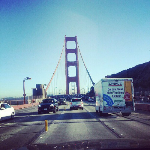 We made it to San Fran! Day 2 driving success. #cinnmovestocali