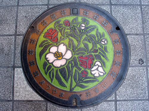 Matsuyama Ehime manhole cover (愛媛県松山市のマンホール)