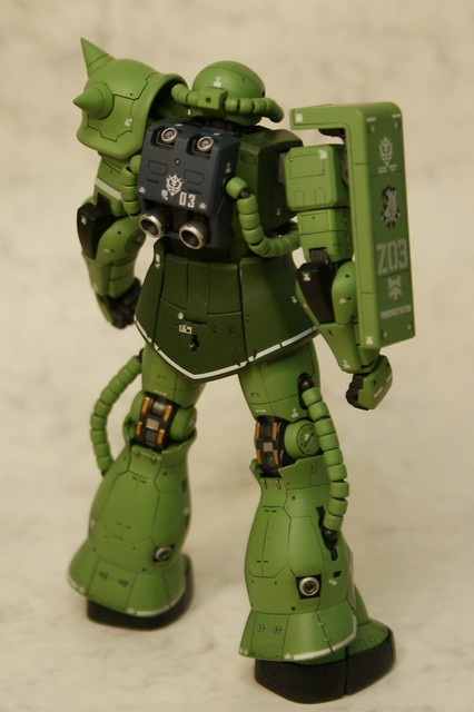 "Real Grade 1/144 - MS-06F Zaku II ""Elite Guard"" - Completed 3 -"