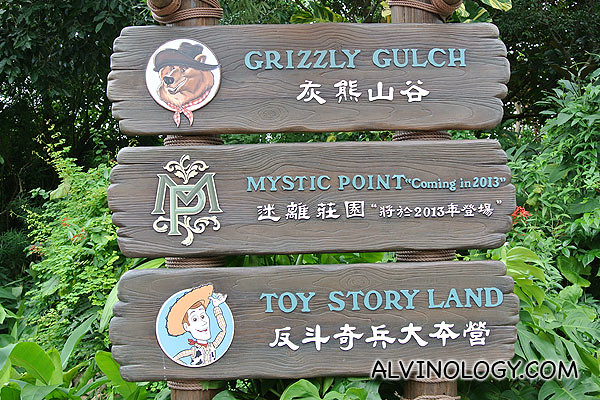 The three newest attractions in Hong Kong Disneyland (Mystic Land won't be open till 2013)