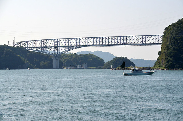 三角西港から見た天門橋