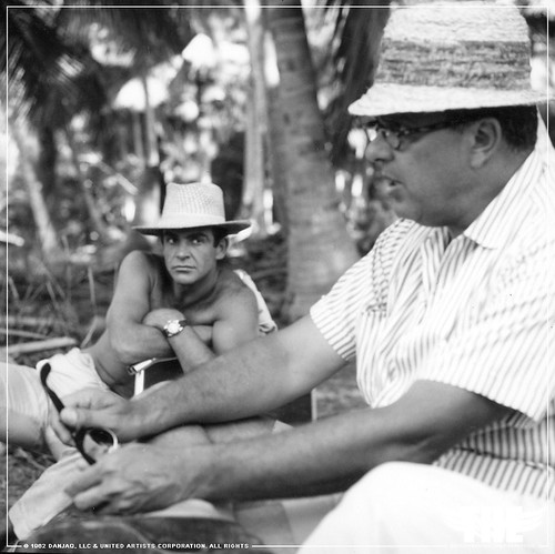 The Establishing Shot CUBBY BROCCOLI & SEAN CONNERY ON THE SET OF DR. NO, JAMACIA. © 1962 DANJAQ, LLC & UNITED ARTISTS CORPORATION. ALL RIGHTS by Craig Grobler