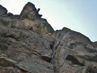 Doug on Lovers Leap - End of Pitch 2