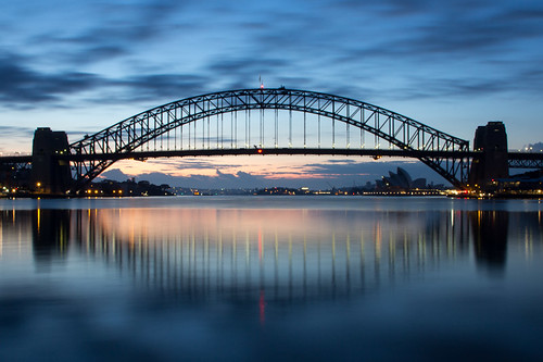 Dawn on Sydney Harbour