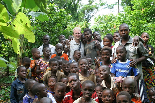 With Cocoa farmers in Ivory Coast