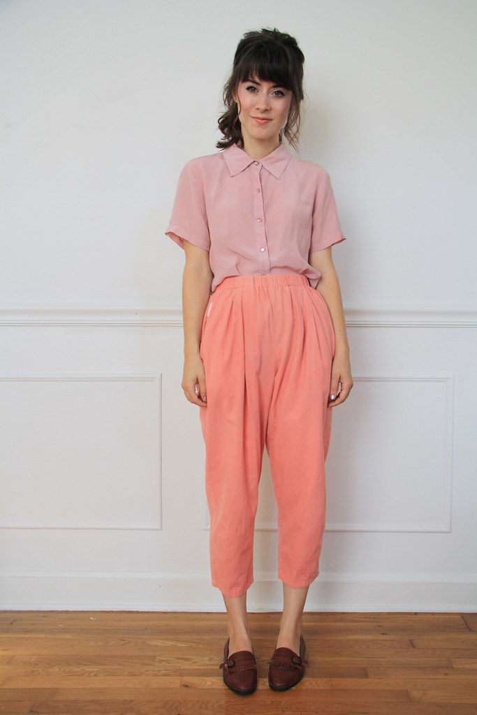vintage coral trousers