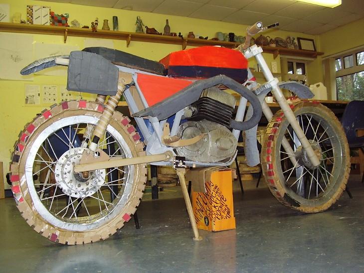 Building cardboard bikes