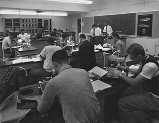 Science laboratory in 1961