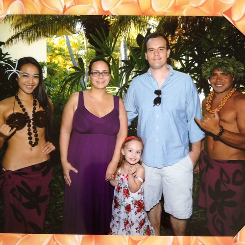 At the resort luau
