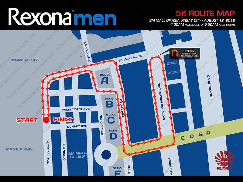 Rexona Run 2012 5k Route