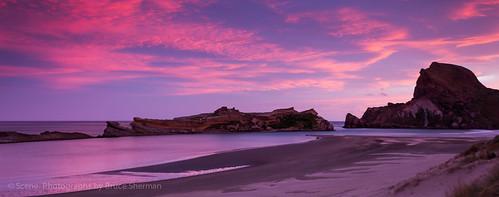 sunset newzealand beach castlepoint wairarapa