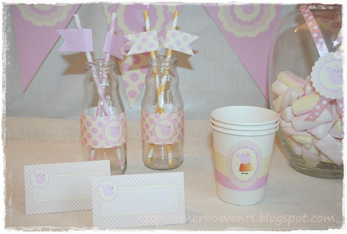 tarjetas mesa  Merbo Events Kit Peppa Pig