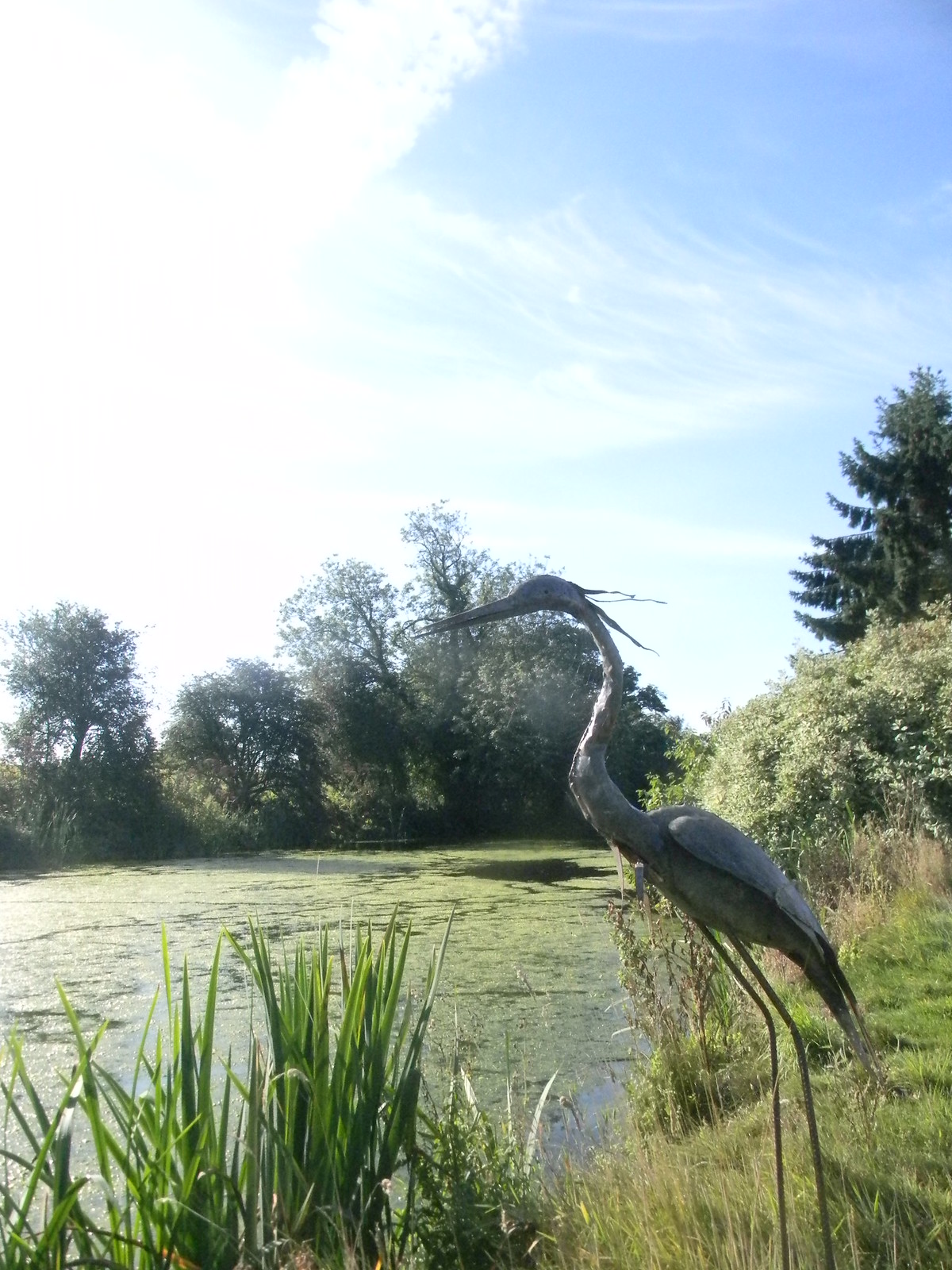 heron sculpture Roydon to Sawbridgeworth