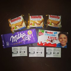 Got early morning Suicide Squad movie tickets and German snacks for my twin sisters and I.   #suicidesquad #movietickets #germansnacks #twinsisters