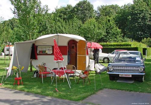 Un camping avec mobil-home