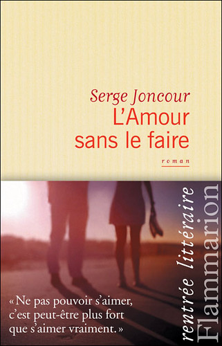 "A pre-wedding photo by Edward Olive photographer cover of the novel by French author Serge Joncour  ""L'amour sans le faire"""