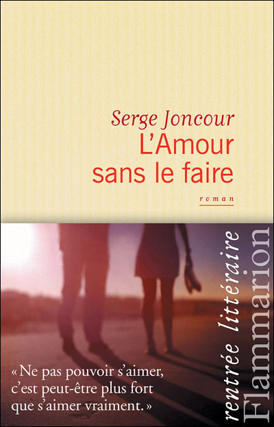 """A pre-wedding photo by Edward Olive photographer cover of the novel by French author Serge Joncour  """"L'amour sans le faire"""""""