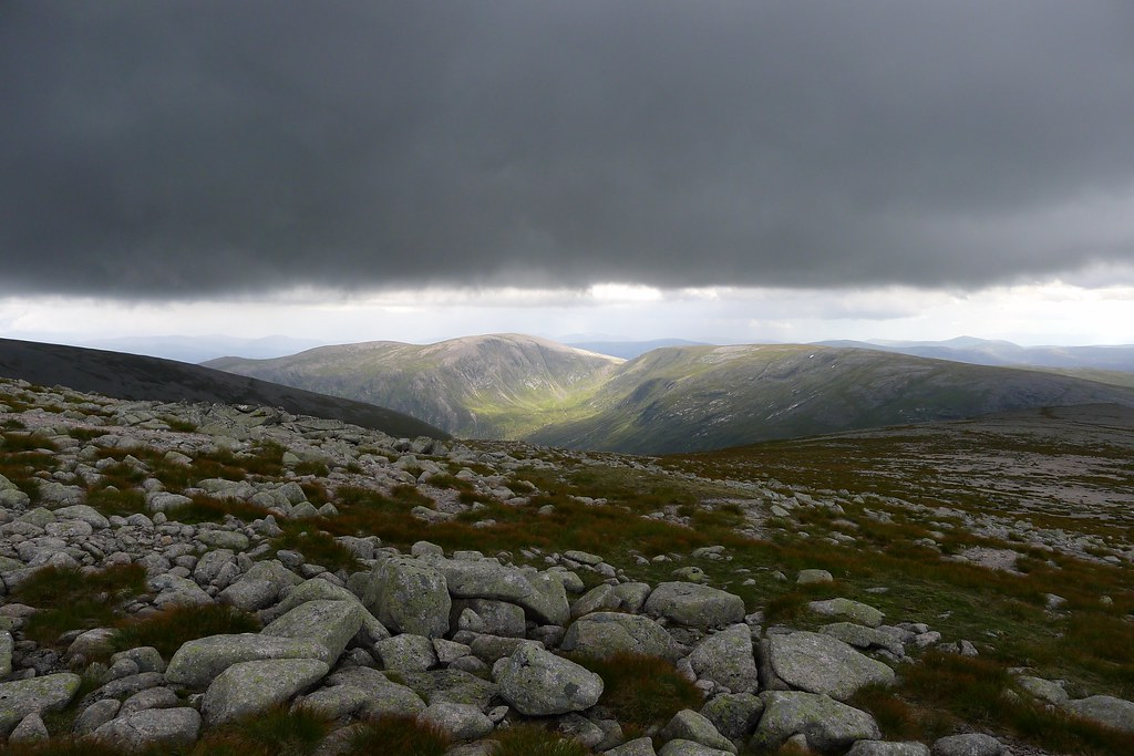 Dark clouds over Beinn Bhrotain