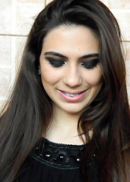 juliana leite foto tutorial make up maquiagem preta com prata batom vermelho ou nude para a noite para festa11
