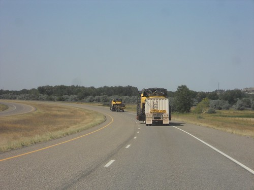 Convoy moving to Wyoming