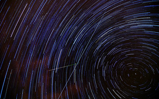 'Perseid Meteor' + Star Trails + ISS