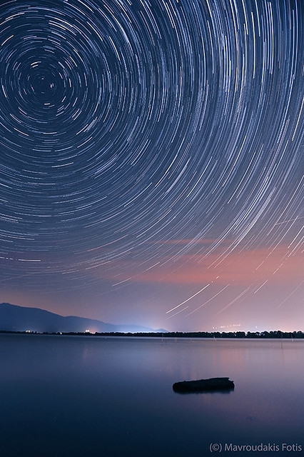 Startrails over the Lake