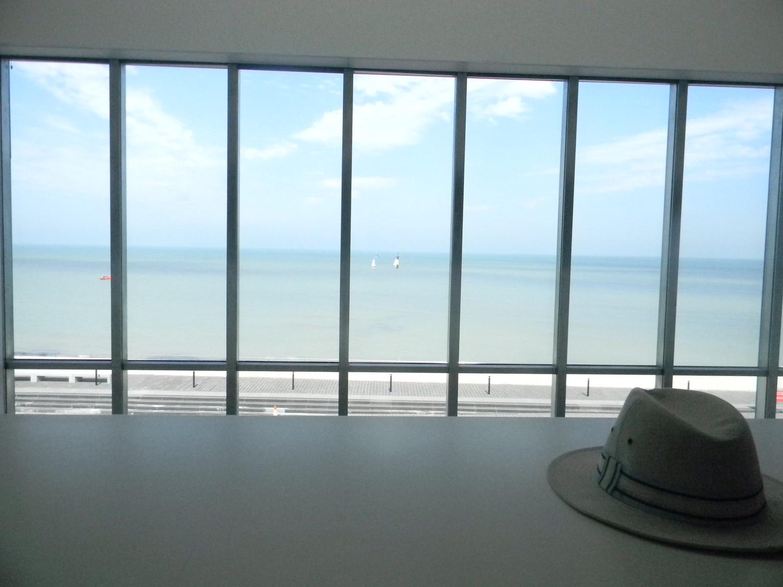 View from the Turner Gallery Ceci n'est pas un chapeau.... Margate to Broadstairs Broadstairs Folk Week