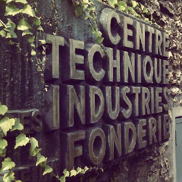 lovely metal letters, centre technique des industries de la fonderie