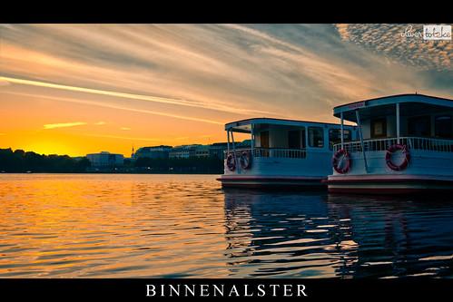sun water sunrise river germany hamburg alster sonne sonnenaufgang binnenalster polfilter 15082012