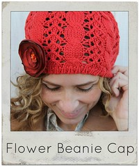 how to make a flower beanie cap