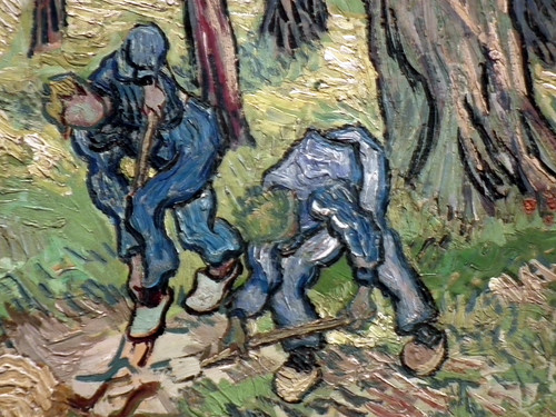 "Detail of Vincent van Gogh's ""The Diggers"" at the Detroit Institute of Arts (Detroit. 2012)"