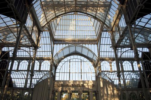 Dentro del Palacio de Cristal