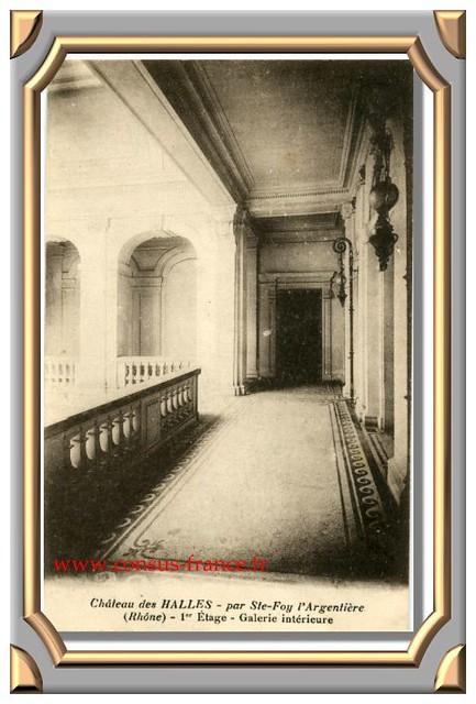 Château des HALLES _ Galerie intérieure -70-150