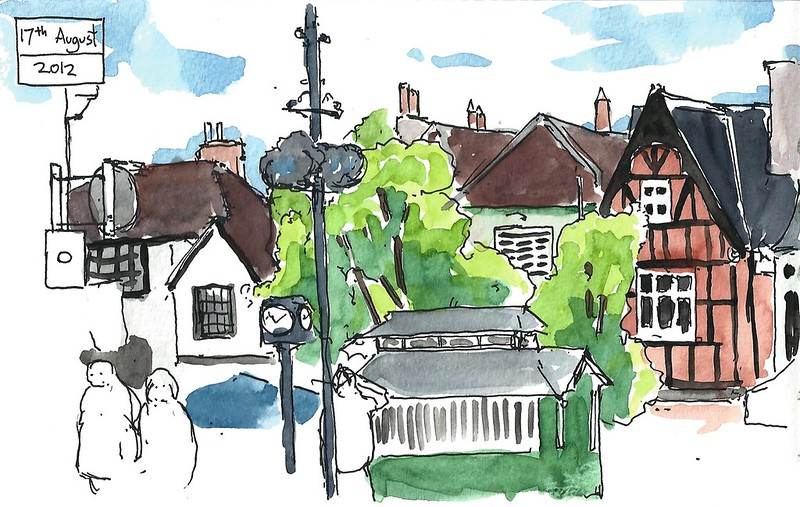 hitchin watercolour